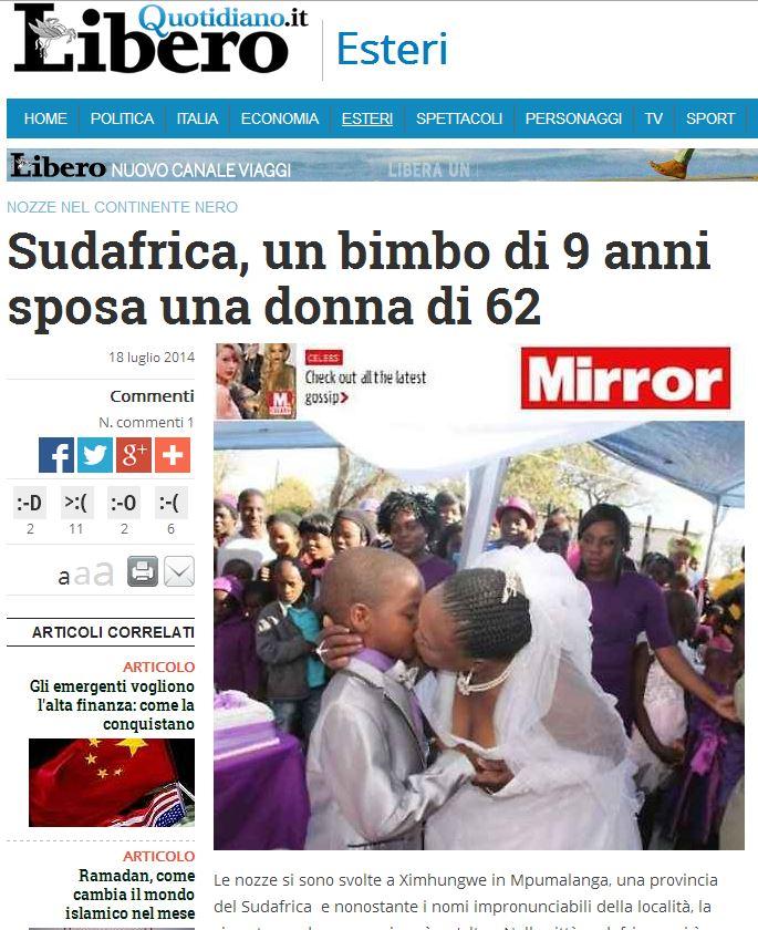 Chilo Di Anni Sposa Tanto Al 9 62 — Un Bimbo Donna Butac Bufale lK13TFJc