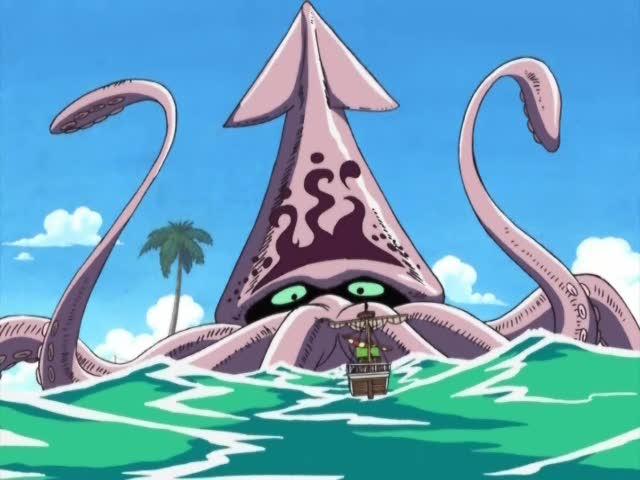 nave e calamaro gigante