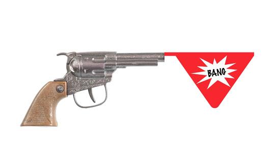 armi sceniche Alfano pistola giocattolo