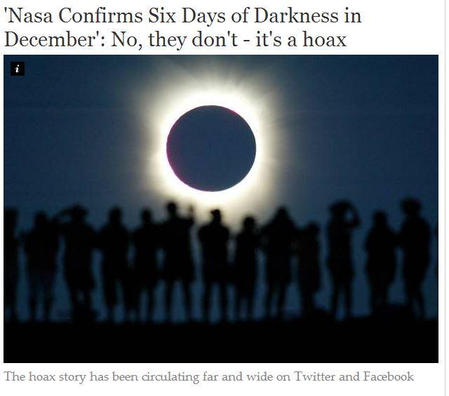 tre giorni di buio