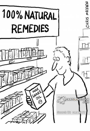 Alternative medicine - some of its remedies are possibly nothing more than snake oil