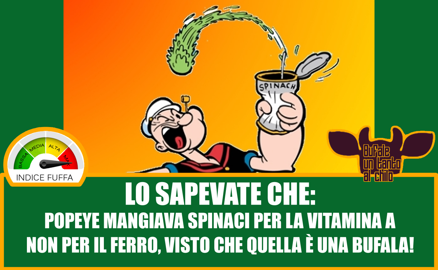 old but gold gli spinaci e il ferro bufale un tanto al ForFerro Al Chilo