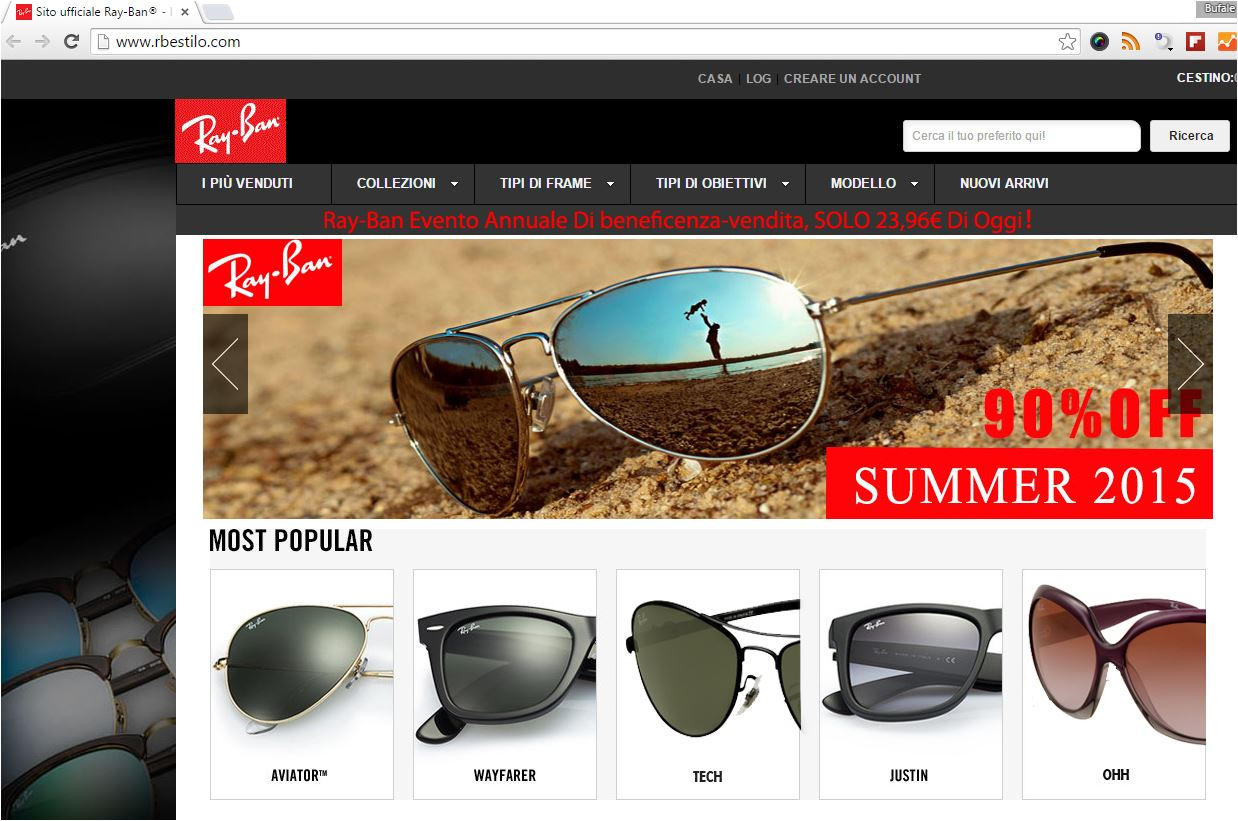 98c6e31ee8 Home Misinformation Attenzione Ray Ban – evento annuale di beneficenza.  Misinformation ...