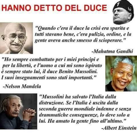 Piccole Perle Di Facebook Hanno Detto Del Duce Butac