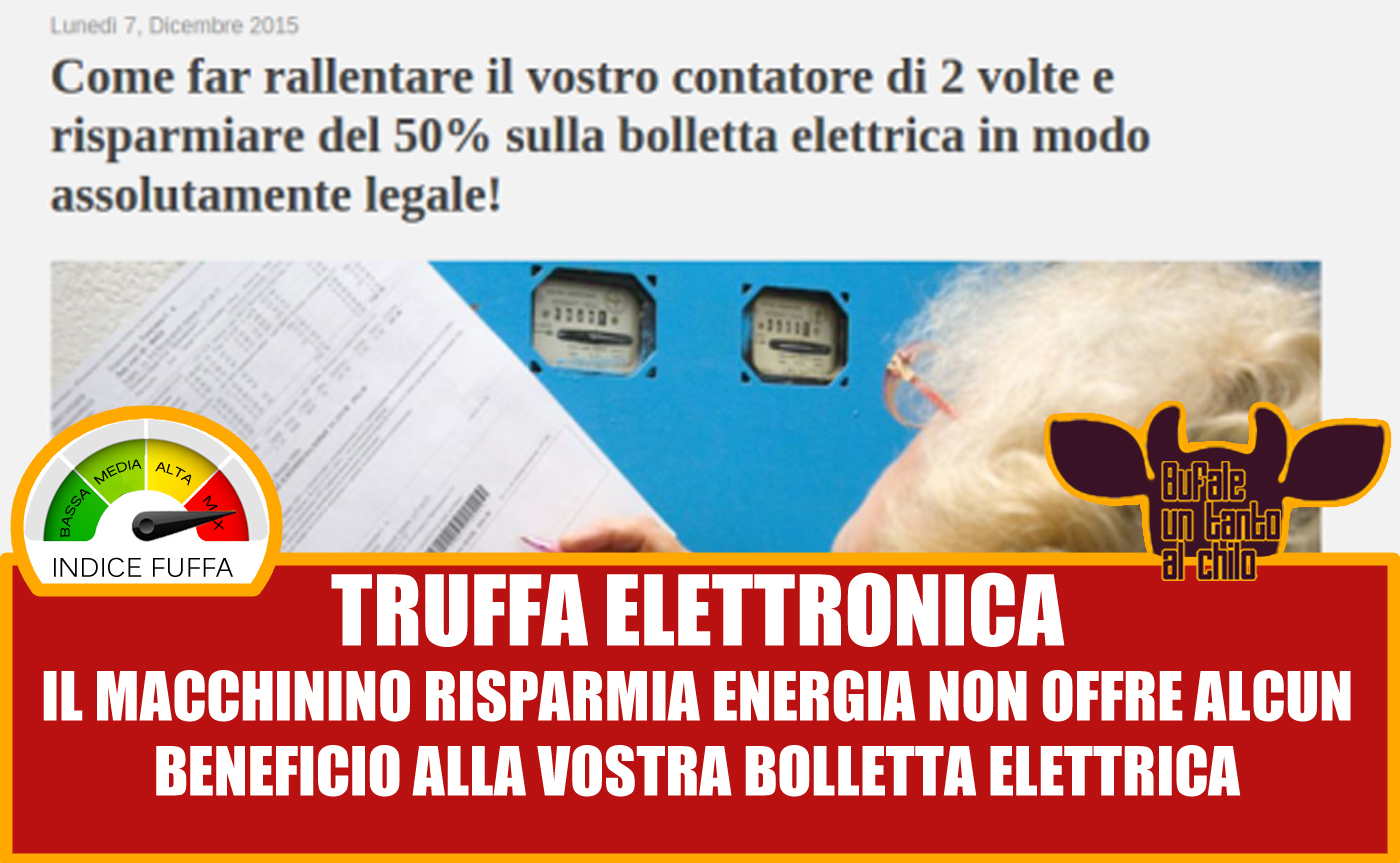Linutilit Di Energy Saver Pro Saving Box Butac Bufale Un Power Fraud