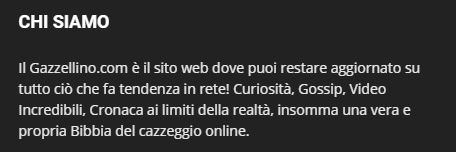 gazzellino disclaimer