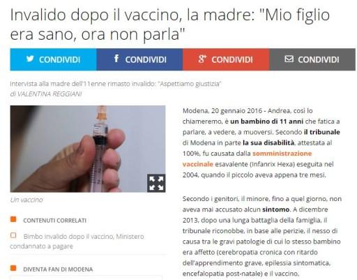 notizie antivacciniste