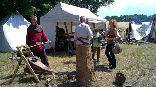 metallurgist, ironmaster, steelmaker, medieval festival, craftsmanship reenactment, ląd, 2013