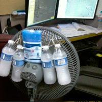 Ghiaccio davanti al ventilatore