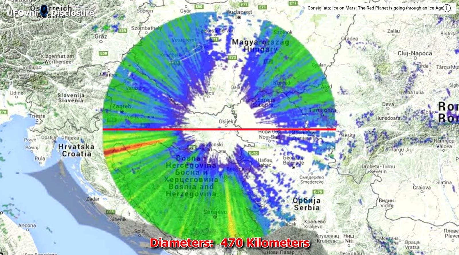 Anomalia radar Serbia