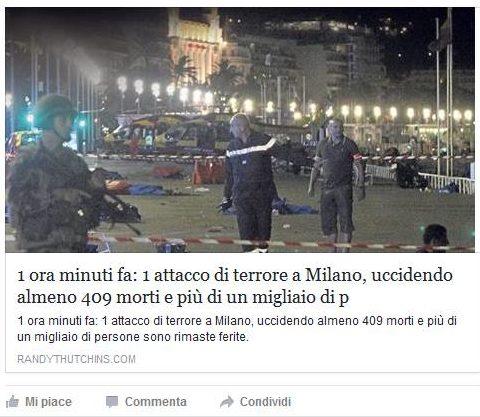 Attacco a Milano, 409 morti