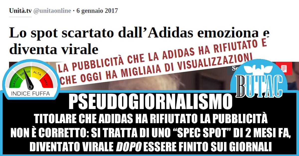 Quella pubblicità scartata da Adidas – BUTAC Bufale un