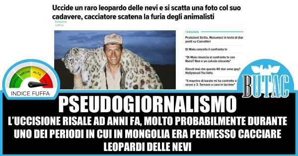 Cacciatore statunitense uccide leopardo delle nevi, scatta petizione