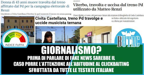 Donna investita e uccisa dal treno di Renzi