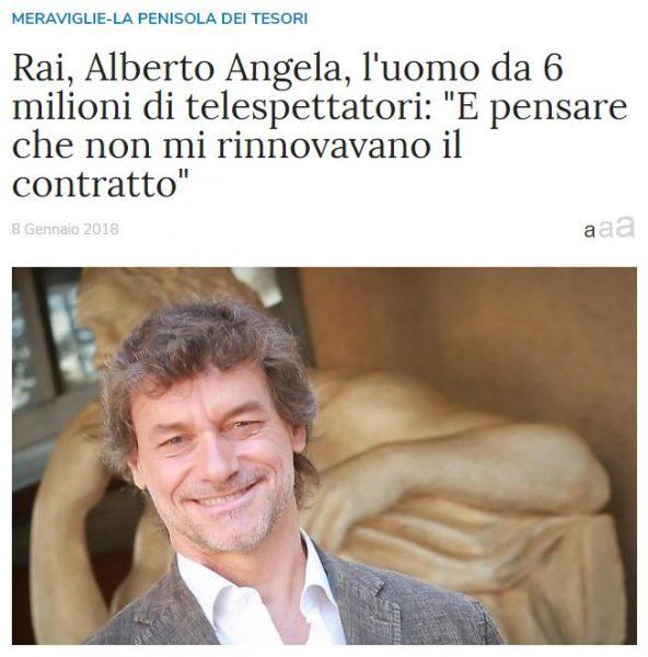 """Rai, Alberto Angela, l'uomo da 6 milioni di telespettatori: """"E pensare che non mi rinnovavano il contratto"""""""