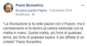 la pagina social dedicata a Paolo Borsellino - oltre 650mila follower