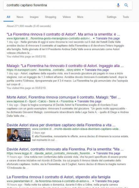 La fiorentina rinnova il contratto a Davide Astori