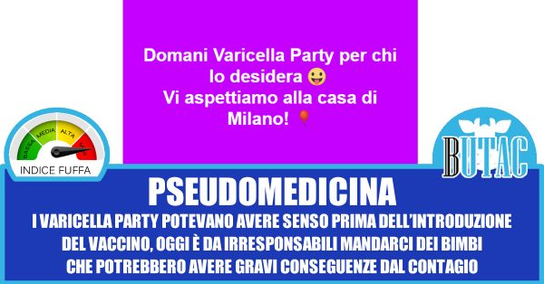 Mamma no vax invita a varicella party: è polemica
