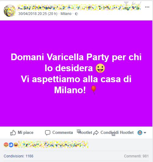 Varicella party a Milano: ecco chi è la mamma no vax