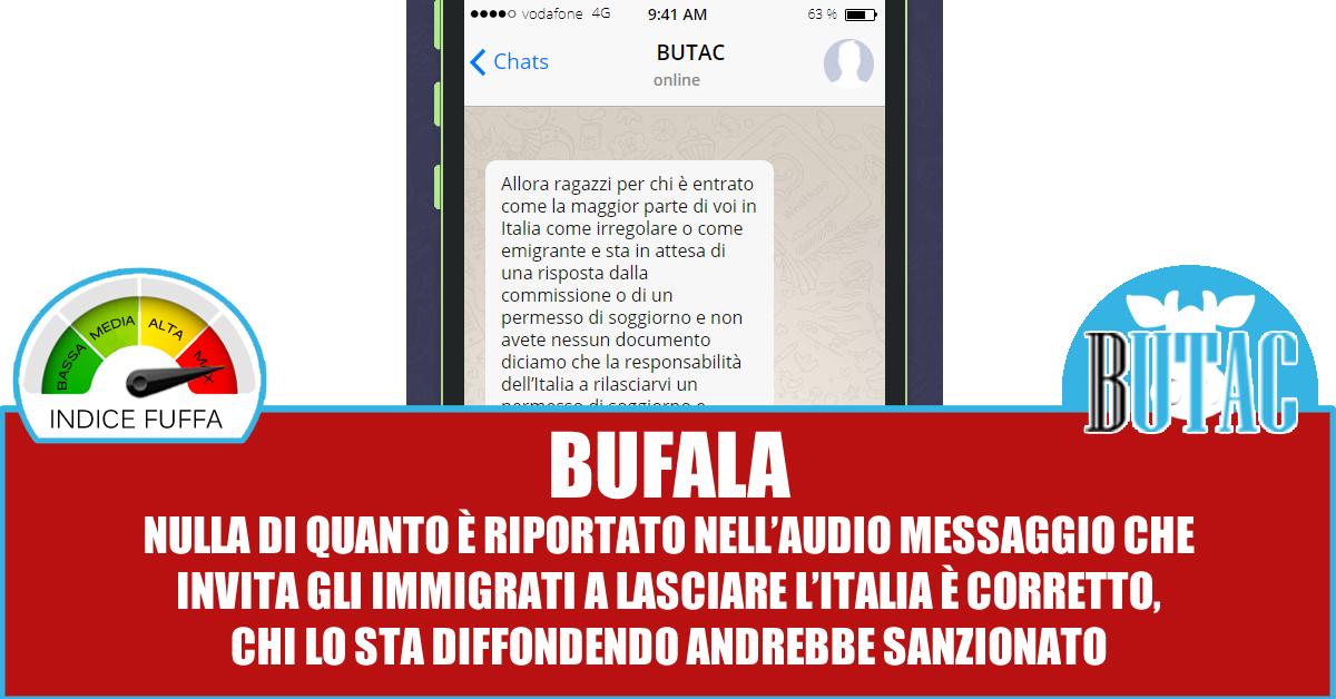Bruna e l\'invito a lasciare l\'Italia — BUTAC - Bufale un ...