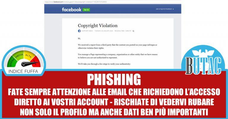 Facebook violation