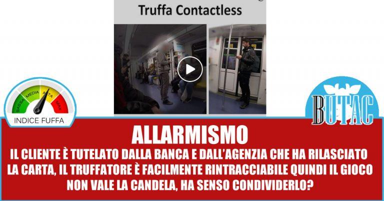 Truffa contactless – E due