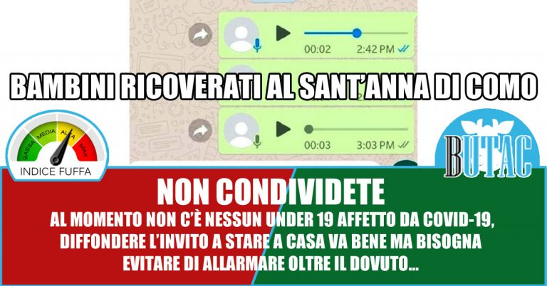 No, al Sant'Anna di Como (ad oggi) non ci sono bambini con la Covid-19