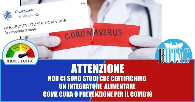 Integratori alimentari per prevenire e curare COVID-19?
