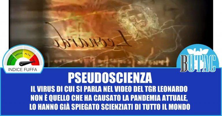 Panico di massa per un video di 5 anni fa: TGR Leonardo e CoVid-19
